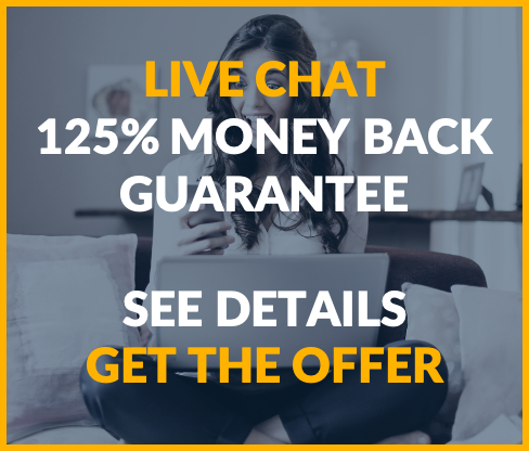 Live Chat Money Back Guarantee